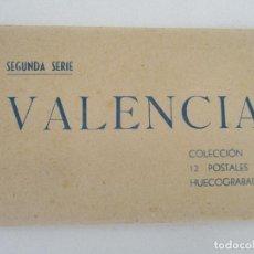 Postales: ÁLBUM - CARNET - BLOCK POSTAL - 12 POSTALES - VALENCIA, SEGUNDA SERIE - HUECOGRABADO JDP. Lote 97984215