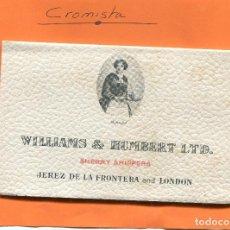 Postales: ACORDEON MOTIVOS TAURINOS DE ' WILLIAMS & HUMBERT LTD. - JEREZ DE LA FRONTERA AND LONDON ( NOV4). Lote 98055883