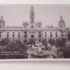 Postales: VALENCIA, NUEVA FACHADA DE LA CASA CONSISTORIAL. ED :UNIQUE. Lote 98374687