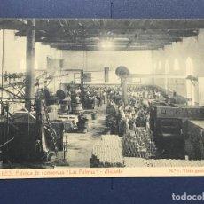 Postales: POSTAL DE ALICANTE - FABRICA DE CONSERVAS LAS PALMAS - GILLES Nº 1 VISTA GENERAL INTERIOR. Lote 98651539