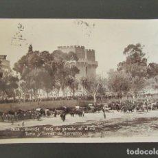Cartes Postales: POSTAL VALENCIA. FERIA DE GANADO EN EL RÍO TURIA Y TORRES DE SERRANOS. CIRCULADA. . Lote 99958043