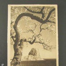 Postales: POSTAL ALICANTE. CALPE. ALMENDROS EN FLOR Y EL PEÑÓN. CIRCULADA. AÑO 1948.. Lote 99959171