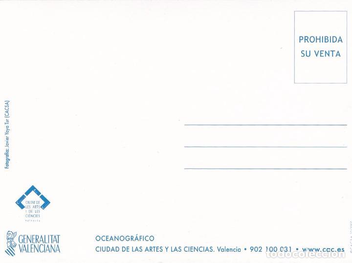 Postales: POSTAL OCEANOGRAFICO. CIUDAD DE LAS ARTES Y LAS CIENCIAS. VALENCIA - Foto 2 - 180265658