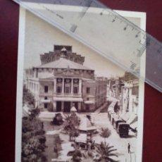 Postales: ANTIGUA TARJETA POSTAL - CASTELLON - PLAZA DE LA PAZ Y TEATRO PRINCIPAL - EDICION ARMENGOT -. Lote 103648411