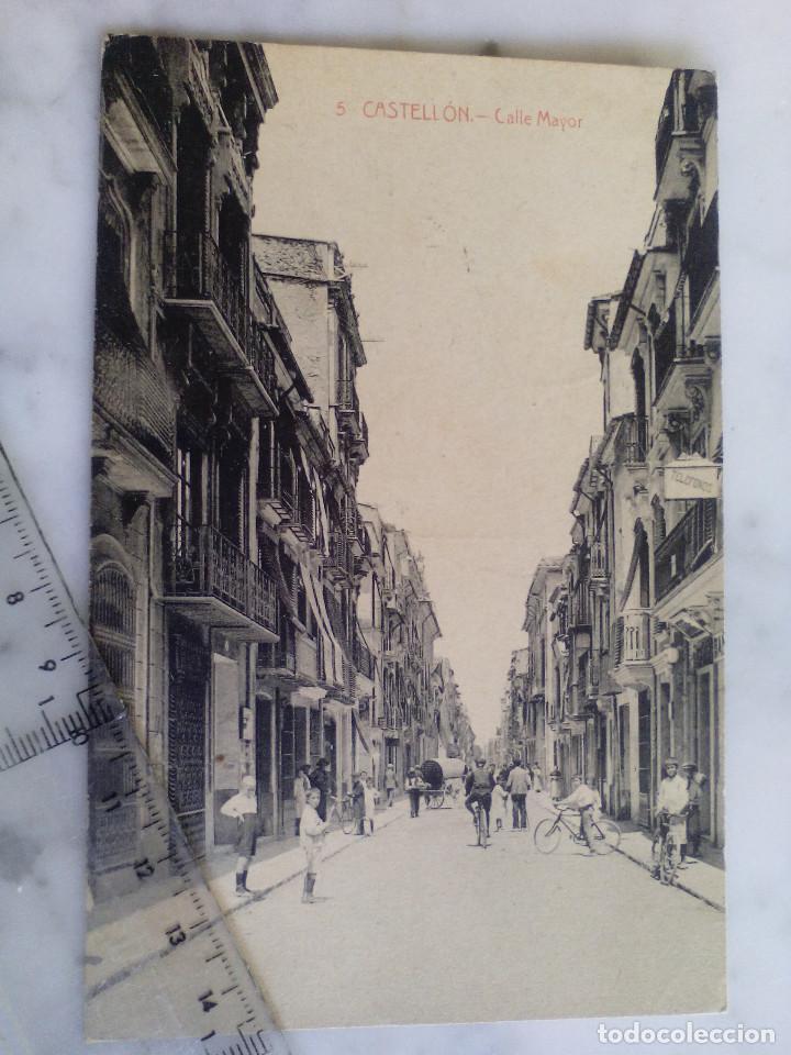 ANTIGUA TARJETA POSTAL Nº 5 - CASTELLON - CALLE MAYOR - ED.HIJOS DE ARMENGOT (Postales - España - Comunidad Valenciana Antigua (hasta 1939))