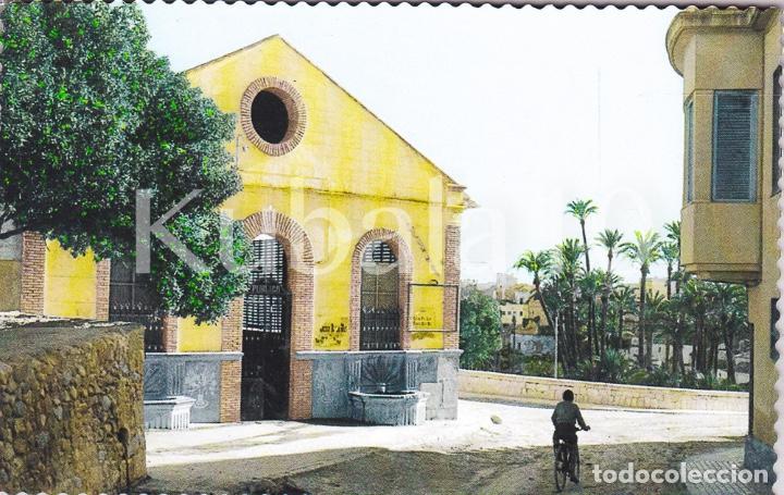 POSTAL CREVILLENTE (ALICANTE) TROQUELADA COLOREADA ·· NUEVO LAVADERO PUBLICO ·· FOTO AGUSTIN (Postales - España - Comunidad Valenciana Moderna (desde 1940))