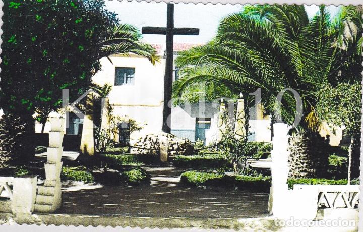 POSTAL CREVILLENTE (ALICANTE) TROQUELADA COLOREADA ·· CRUZ DE LOS CAIDOS ·· FOTO AGUSTIN (Postales - España - Comunidad Valenciana Moderna (desde 1940))