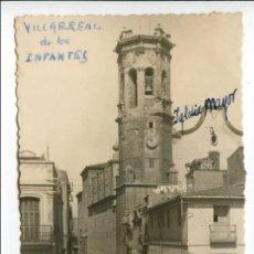 Postales: VILLARREAL DE LOS INFANTES, CASTELLÓN, Nº 12 CALLE CONDE ALBAY Y TORRE DE LA ARCIPRESTAL, PAP. MATA. Lote 103987087