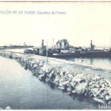 Postales: CASTELLON DE LA PLANA ESCOLLERA DEL PUERTO. Lote 104072679
