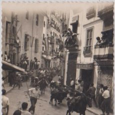 Postales: SEGORBE - (CASTELLON) - ENCIERRO DE LOS TOROS. Lote 104091895