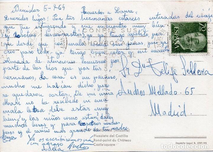 Postales: BENIDORM ALICANTE PLAZOLETA DEL CASTILLO - Foto 2 - 104455527