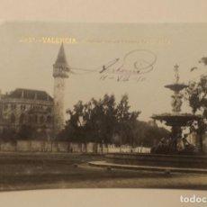 Postales: VALENCIA, POSTAL FOTOGRAFIA. CASTILLO DE LOS CONDES DE RIPALDA AÑO 1910. Lote 105129379