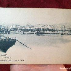 Postales: ANTIGUA POSTAL DE ALICANTE, EL PUERTO, BAZAR LOPEZ, N. 338, ED. HAUSER Y MENET, CIRCULADA, SIN D. Lote 105828787