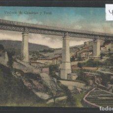 Postales: ALCOY - VIADUCTO DE CANALEJAS Y TOSAL - VER REVERSO - (48.108). Lote 105839243