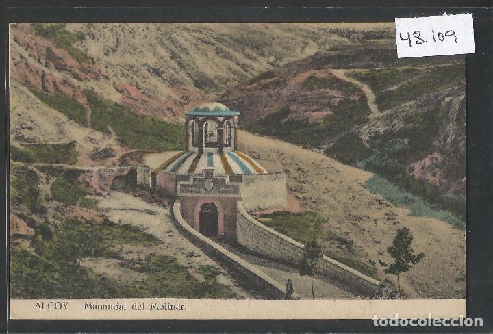ALCOY - MANANTIAL DEL MOLINAR - VER REVERSO - (48.109) (Postales - España - Comunidad Valenciana Antigua (hasta 1939))