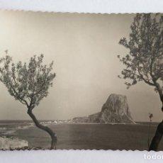 Postales: POSTAL FOTOGRÁFICA. VISTA PEÑÓN DE IFACH. CALPE. ALICANTE.. Lote 105995071
