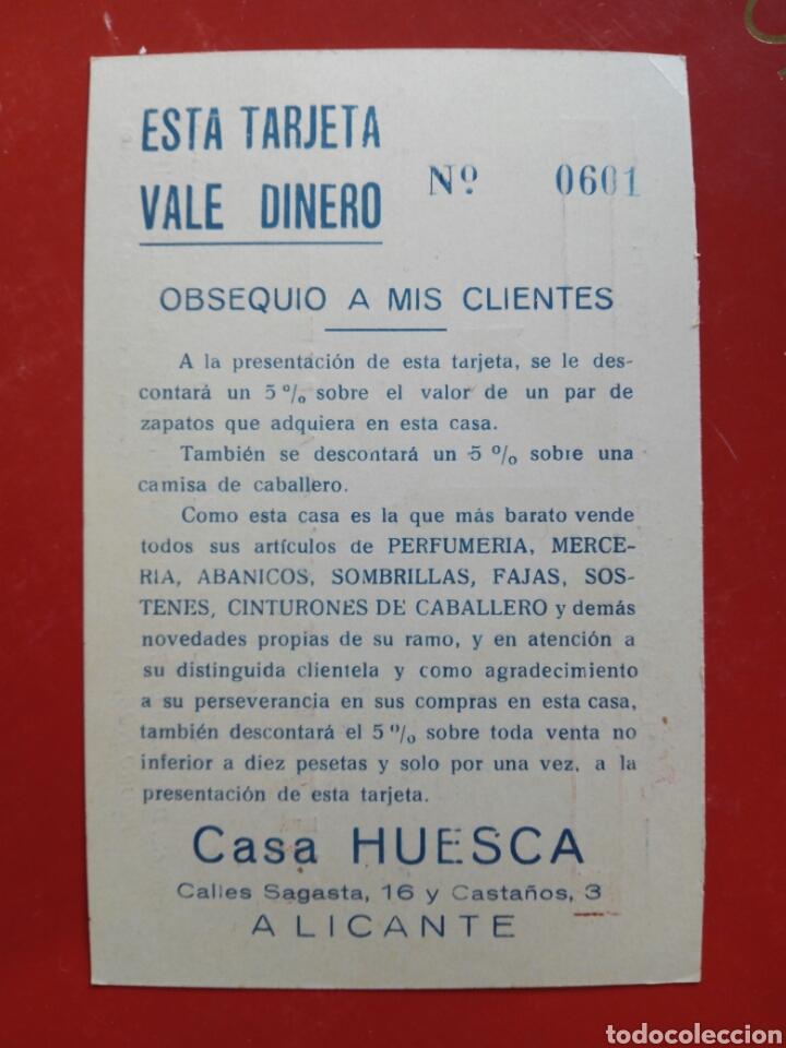 Postales: Casa Huesca Alicante postal publicidad años 30 - Foto 2 - 104897072