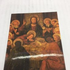 Postales: POSTAL SIN CIRCULAR DE BOCAIRENTE - SANTA CENA, MAESTRO BORBOTO, SIGLO XV, MUSEO PARROQUIAL. Lote 106907991