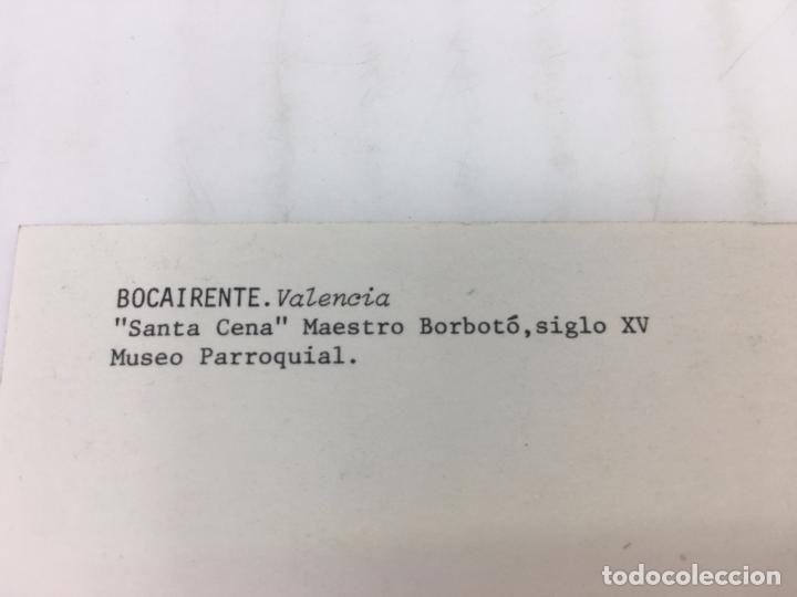 Postales: POSTAL SIN CIRCULAR DE BOCAIRENTE - SANTA CENA, MAESTRO BORBOTO, SIGLO XV, MUSEO PARROQUIAL - Foto 3 - 106907991