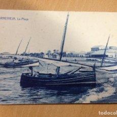Postales: ANTIGUA POSTAL TORREVIEJA ALICANTE LA PLAYA FOTOTIPIA THOMAS BARCELONA ESCRITA 1927. Lote 107407803