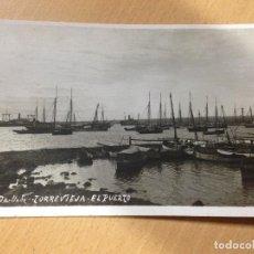 Postales: ANTIGUA FOTOGRAFIA TARJETA POSTAL TORREVIEJA ALICANTE EL PUERTO FOTO DARBLADE. Lote 107408907