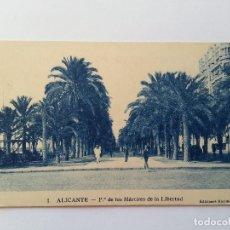 Postales: ALICANTE- PASEO DE LOS MARTIRES. EDICIONES MARIMON Nº 1. Lote 107419143