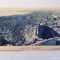 Postales: ALICANTE- VISTA GENERAL. EDICIONES MARIMON, Nº 7. Lote 107420067