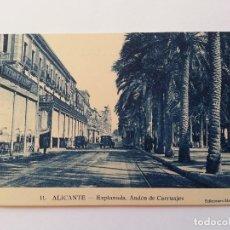 Postales: ALICANTE- EXPLANADA, ANDEN DE CARRUAJES. EDICIONES MARIMON, Nº 11. Lote 107420319