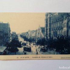 Postales: ALICANTE- AVENIDA ALFONSO EL SABIO- TRANVIAS. EDICIONES MARIMON, Nº 23. Lote 107420911