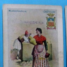 Postales: MUJERES ESPAÑOLAS. CASTELLÓN, Nº 13. EDITORIAL SATURNINO CALLEJA. ANTERIOR A 1906.. Lote 107973043