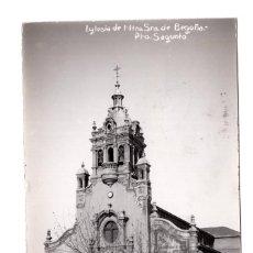 Postales: POSTAL FOTOGRAFICA - IGLESIA NUESTRA SEÑORA DE BEGOÑA PUERTO SAGUNTO . VALENCIA - FOTOS LEÓN. Lote 107974751