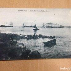 Postales: ANTIGUA POSTAL TORREVIEJA ALICANTE LA BAHIA DESDE LA ESCOLLERA DARBLADE. Lote 108080831