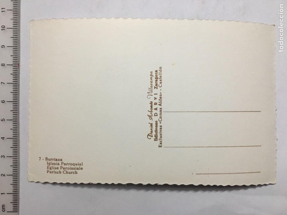 Postales: POSTAL. 7. BURRIANA (CASTELLÓN). Iglesia Parroquial. Ed. DARVI. H. 1950 - Foto 2 - 111759926