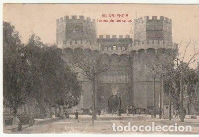 POSTAL VALENCIA TORRES DE SERRANOS EDITOR SANCHIS HERMANOS CIRCULADA EN 1915 - -C-31 (Postales - España - Comunidad Valenciana Antigua (hasta 1939))