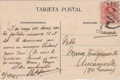 Postales: POSTAL VALENCIA TORRES DE SERRANOS EDITOR SANCHIS HERMANOS CIRCULADA EN 1915 - -C-31 - Foto 2 - 109158503