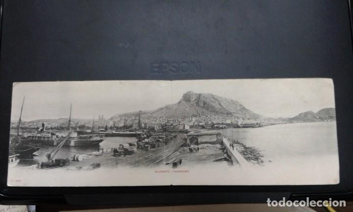 ALICANTE. PZ 10058 PANORAMA. POSTAL DOBLE (Postales - España - Comunidad Valenciana Antigua (hasta 1939))