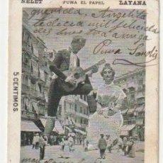 Postales: POSTAL FERIA DE VALENCIA 1904 NELET Y QUIQUETA CIRCULADA A BARCELONA NELET FUMA PAPEL LAYANA -C-39. Lote 109190455