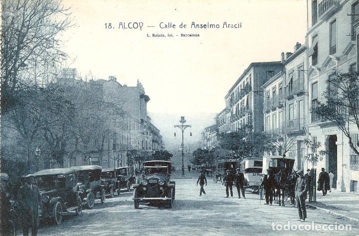 ALCOY Nº 18 C. DE ANSELMO ARACIL L. ROISIN FOTG. S.C. (Postales - España - Comunidad Valenciana Antigua (hasta 1939))