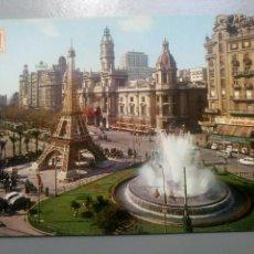 Postales: POSTAL VALENCIA PLAZA DEL CAUDILLO EN FALLAS 1076 SUBIRATS CASANOVAS. Lote 109307246