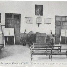 Postales: P- 7991. POSTAL COLEGIO DE JESUS MARIA-ORIHUELA, CLASE DE PARVULOS. Nº17.. Lote 109459475