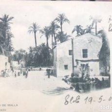 Postales: ELCHE. HUERTO DE MALLA. BAZAR LOPEZ. SIN PARTIR. CIRCULADA EN 1903. Lote 109471928