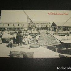 Postales: ALICANTE DETALLE DEL PUERTO. Lote 109740383