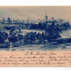 Postales: RECUERDO DE VALENCIA. VISTA GENERAL. POSTAL CIRCULADA EN 1900 CON SELLO ALFONSO XIII PELON.. Lote 110227343