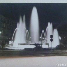 Postales: POSTAL DE VALENCIA : PLAZA DE LA REINA Y FUENTE NOCTURNA . AÑOS 50. Lote 111490031