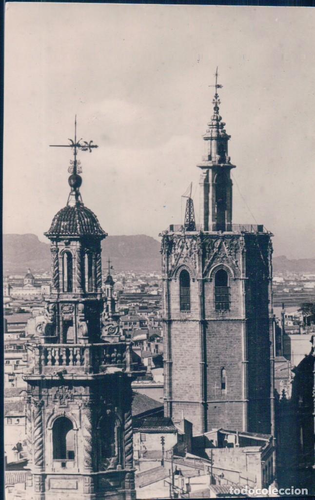 POSTAL VALENCIA 631- TORRES DE SANTA CATALINA Y MIGUELETE - FOTO PENFEL - CIRCULADA (Postales - España - Comunidad Valenciana Antigua (hasta 1939))