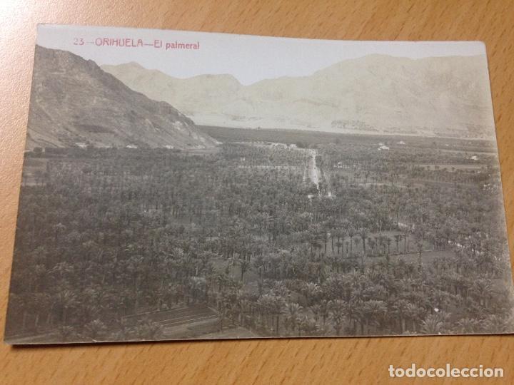 ANTIGUA POSTAL ORIHUELA ALICANTE EL PALMERAL FOTOGRAFIA ANDRES FABERT (Postales - España - Comunidad Valenciana Antigua (hasta 1939))