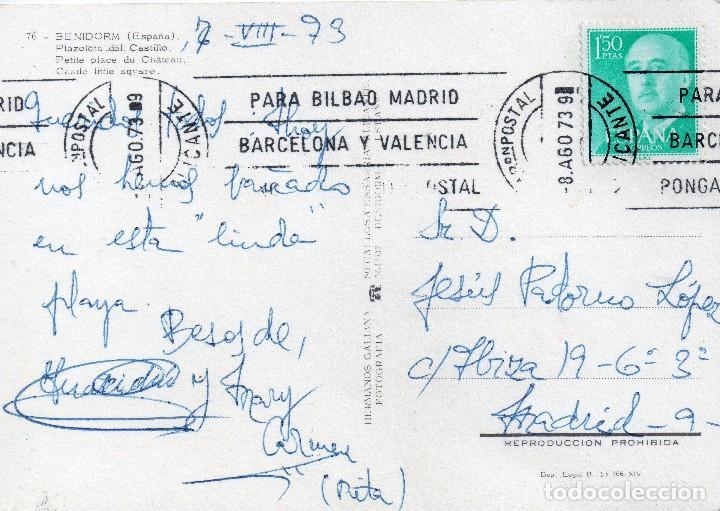 Postales: BENIDORM - PLAZOLETA DEL CASTILLO - Foto 2 - 112356671