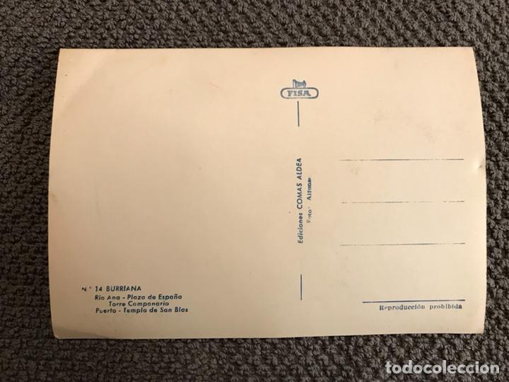 Postales: BURRIANA (Castellón). Postal No.14. (h.1950?) - Foto 2 - 112374656