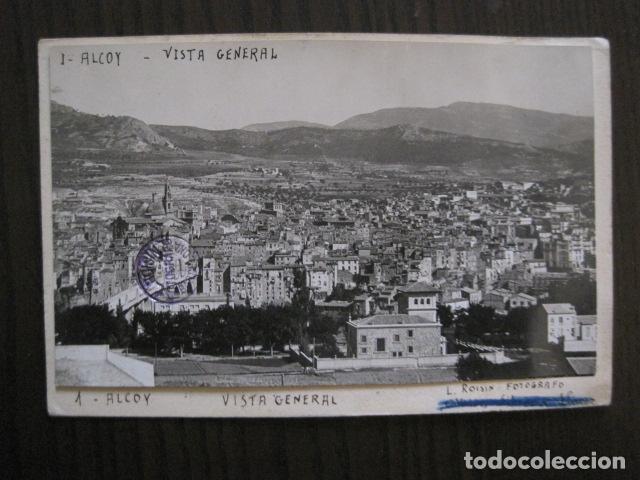 ALCOY - POSTAL PROTOTIPO ARCHIVO FOTOGRAFICO ROISIN - FOTO PEGADA-VER FOTOS-(52.048) (Postales - España - Comunidad Valenciana Antigua (hasta 1939))