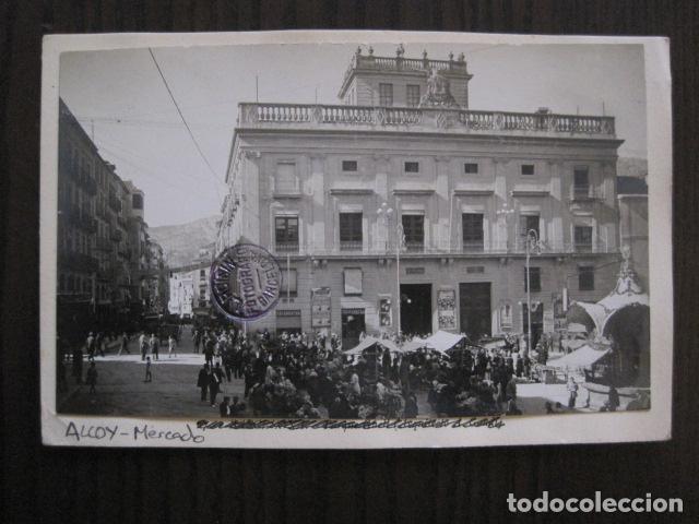 ALCOY - POSTAL PROTOTIPO ARCHIVO FOTOGRAFICO ROISIN - FOTO PEGADA-VER FOTOS-(52.049) (Postales - España - Comunidad Valenciana Antigua (hasta 1939))
